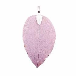 Brass Natural Leaf Pendant