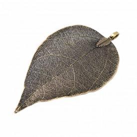 Antique Bronze Leaf Pendant