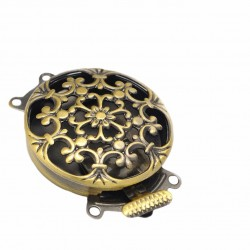 Hollow Box  Flower Clasp