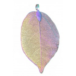 Electroplated  Natural Leaf Pendant