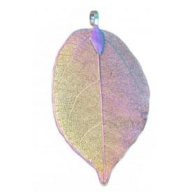 Electroplated  Natural Leaf Pendant