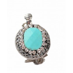 Synthetic Turquoise Box Clasp