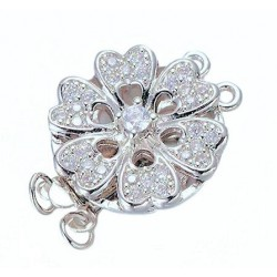 Two  strand Flower Box Clasp