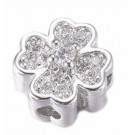 Real Platinum plated Flower Beads