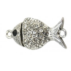 One row Magnetic Fish Clasp