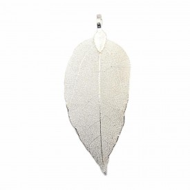 Brass Plated Leaf Pendant