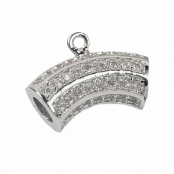 Curved Tube Cubic Zirconia Hanger Links