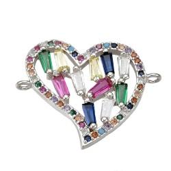 Heart Cubic Zirconia Link