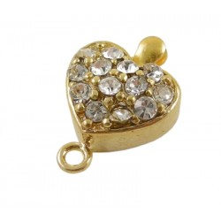 One row Heart Box Clasp