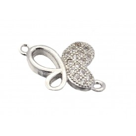 Butterfly Micro Pave Cubic Zirconia Link