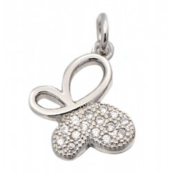 Butterfly Cubic Zirconia Charm Pendant